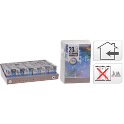 Guirlande lumineuse intérieure 20 leds multicouleurs-partie lumineuse2m-led 3mm-fil conducteur 30cm-distance entre led 10cm-fonctionne avec3 piles aa non incluses
