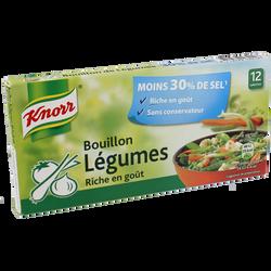 Cubes de bouillon de légumes réduit en sel KNORR, 12 tablettes, 109g,6l