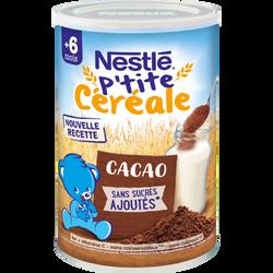 P'tite Céréale au cacao NESTLÉ, dès 6 mois, boite de 400g