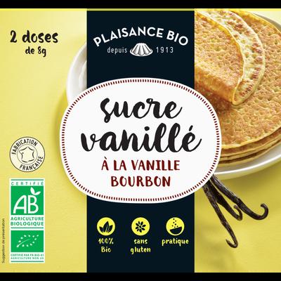 Sucre vanillé bio, PLAISANCE BIO, sachet de 2 doses, 16g