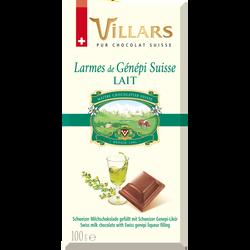 Chocolat au lait liqueur genenpi VILLARS tablette 100g