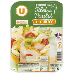 Emincés de filet de poulet au curry U, 150g
