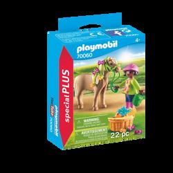Playmobil Spécial Plus - Cavalière avec poney - 70060 -Dès 4 ans
