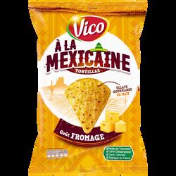 Tortilla à la mexicaine goût fromage VICO, sachet de 150g