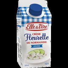 Elle & Vire Crème Fleurette Légère 12%mg  Bk 33cl
