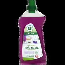 Nettoyant multi-usage parfum orchidées et violettes U NATURE, bidon de1l