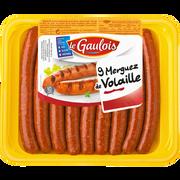 Le Gaulois Merguez De Volaille, Le Gaulois, 9 Pièces, Barquette, 450g