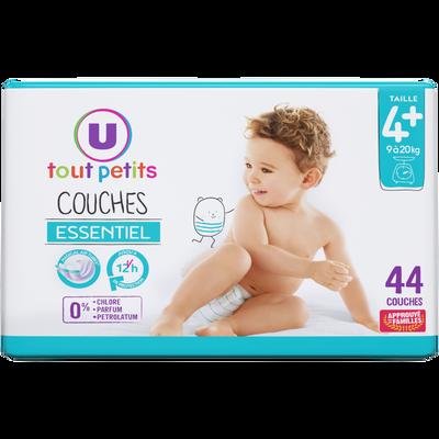 Couches essentiel T4+ 9/20kg U TOUT PETITS x44