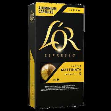 Maison du Café Café Capsules L'or Espresso Lungo Mattinata X10