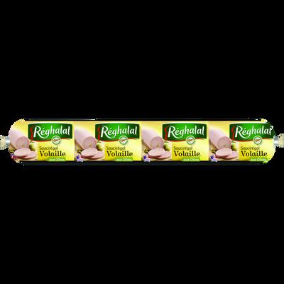 Saucisson volaille olives Réghalal HALAL, 500g