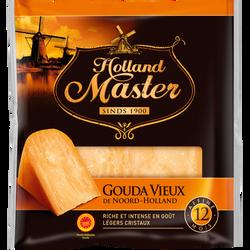 Gouda vieux AOP au lait pasteurisé 35% de matière grasse HOLLAND MASTER, 200g