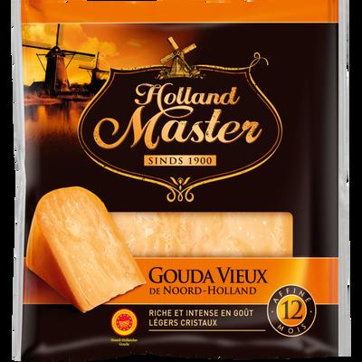 Gouda vieux AOP au lait pasteurisé HOLLAND MASTER, 35% de MG, 200g