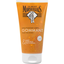 Soin gommant pour le corps hydratant au karité et huile d'argan LE PETIT MARSEILLAIS, 150ml