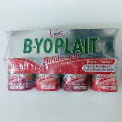 B YOPLAIT FRUIT ROUGE (CERISE, FRAMBOISE, FRAISE, FRUITS DES BOIS) 125GX16