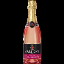 Cocktail sans alcool pétillant framboise D'ARTIGNY, bouteille de 75cl
