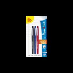 Feutre flair nylon, pointe moyenne, 3 unités, coloris assortis