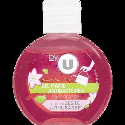 Gel pour les mains sans rinçage parfum rhubarbe BY U, flacon de 60ml
