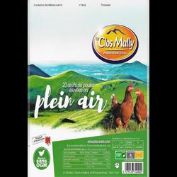 Oeufs moyens plein air Auvergne sans OGM *20