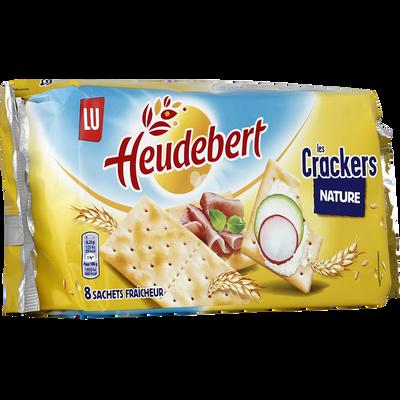 Crackers de table nature HEUDEBERT, 250g
