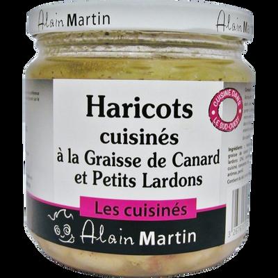 Haricots cuisinés à la graisse de canard et aux petits lardons ALAIN MARTIN, 380g
