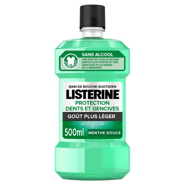 Listerine Bain De Bouche Protection Dent Et Gencives Doux Listerine, 500ml