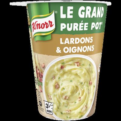 Plat déshydraté purée pomme de terre/lardons/oignons KNORR, 76g