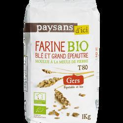 Farine de blé et grand épeautre Gers Bio PAYSANS, 1kg