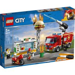 LEGO® City - L'intervention des pompiers au restaurant de hamburgers -60214 - Dès 5 ans