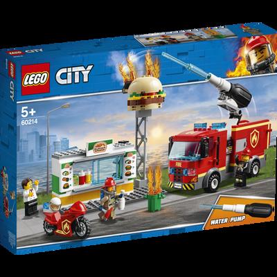 L'intervention des pompiers au restaurant de burgers LEGO City