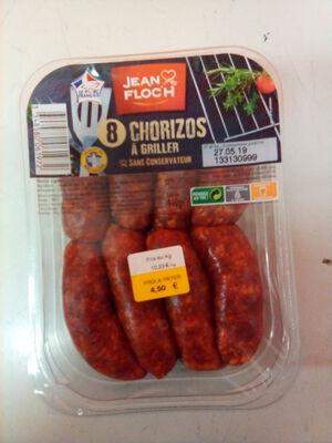 Chorizo, JEAN FLOC'H, 8 pièces, Barquette, 440g