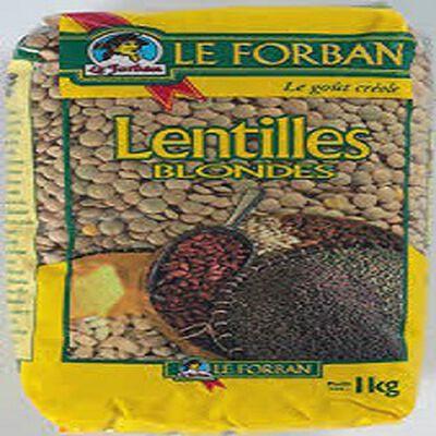 Lentilles blondes LE FORBAN, 1kg