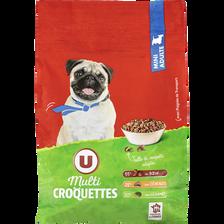 Croquettes pour chien mini adulte boeuf,céréales et légumes U, paquetde 3kg