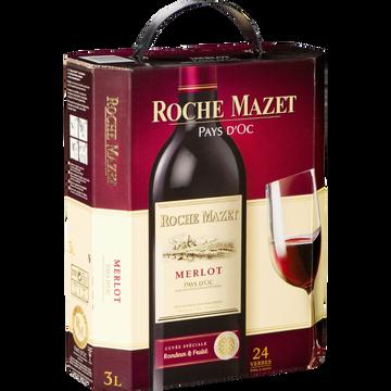 Roche Mazet Vin Rouge Igp De Pays D'oc Merlot Roche Mazet, Fontaine À Vin De 3l