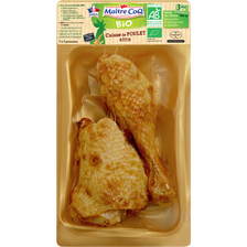 Cuisse de poulet fermier rôti, BIO, MAITRE COQ, 1 pièce 270 g