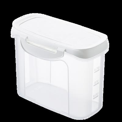 Boîte verseuse U, 1 litre, empilable, couvercle verseur
