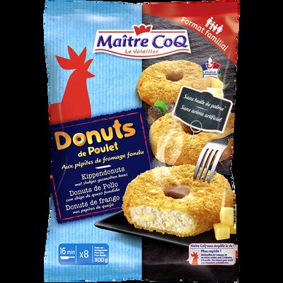 Donuts de poulet et pépites de fromage fondu surgelés, MAITRE COQ, 800g