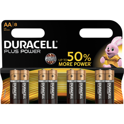 Pile DURACELL Plus Power, LR6, 8 unités