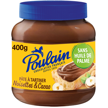 Poulain Pâte À Tartiner Noisettes Et Cacao Poulain, 400g