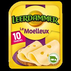 Fromage au lait pasteurisé en tranches Le Moelleux 29,5% de matière grasse LEERDAMMER, x10 soit 250g