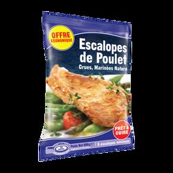 Escalopes de poulet crues marinées nature, 800g PPX