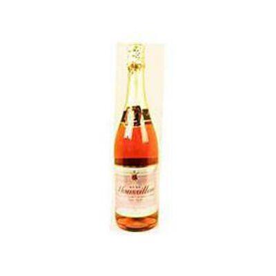 Jus de raisin rouge pétillant sans alcool MOUSSILLON Rosé, bouteille de 75cl