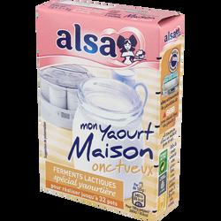 """Ferments lactiques pour yaourtière """"Mon Yaourt Maison Onctueux"""" ALSA,8g"""