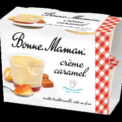 Crème caramel BONNE MAMAN, 4x100g