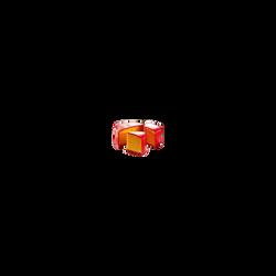 Cheddar red devil au piment lait pasteurisé, 33% de MG, 200g