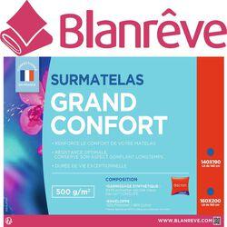 "SURMATELAS ""GRAND CONFORT"" 160X200CM, 500G/M² BLANREVE"