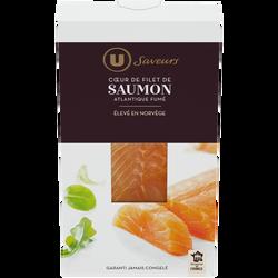 Coeur de filet de saumon fumé d'Atlantique Saveurs U, 150g
