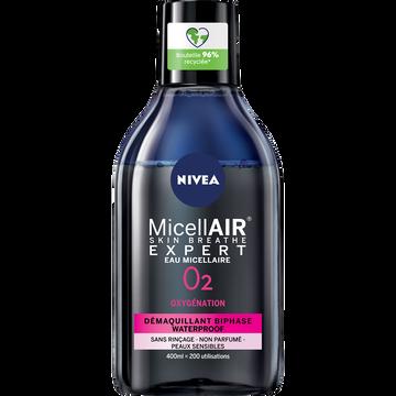 Nivea Démaquillant Visage Waterproof Biphase Micellaire Nivea, 400ml