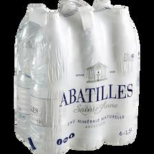Eau minérale naturelle ABATILLES pack 6x1,5litre