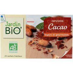 Infusions cacao Légère et Gourmande JARDIN BIO, 20 sachets, boîte de 30g