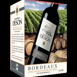 """Vin rouge AOC Bordeaux """"Château Deson"""", fontaine à vin de 3 litres"""